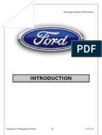 Marketing Strategies of Ford Motors