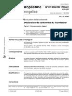 NF EN ISO CEI  17050-2 - 2005
