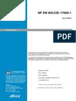NF EN ISO CEI  17050-1 - 2005
