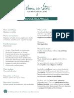 Formation du Cueilleur - Fiche plante - Roquette sauvage - print