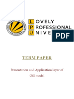 Presentation and Application layer of OSI model