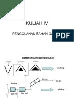 KULIAH IV pENGOLAHAN