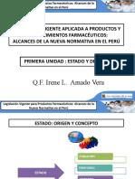 CLASE 1 RES - LEGISLACIÃ_N VIGENTE APLICADA A PRODUCTOS Y ESTABLECIMIENTOS FARMACÃ_UTICOS