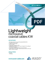KW Lightweight Microwave Coaxial Cables
