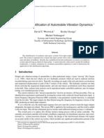 automobile vibration dynamics