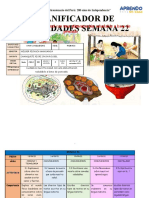 Planificador Semanal III SEMANA 22
