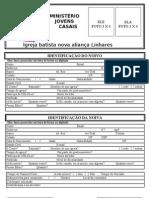 Ficha de inscrição curso de noivos 2011