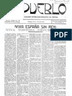 L'exemplar del periòdic republicà 'El Pueblo' del 18 d'abril del 1931