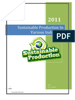 Sustainability in Various Industries