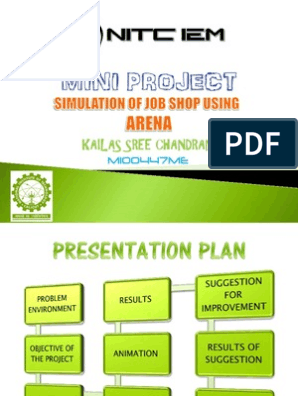 Simulation of Job Shop using Arena - Mini Project PPT | Systems