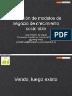 Definición de modelos de negocio de crecimiento sostenible