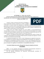 HCNSU 78 Solicitare Asistenta Umanitara Internationala