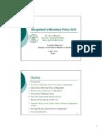 Bangladesh's Monetary Policy 2010