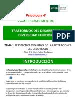 Tema 1. Perspectiva evolutiva de las alteraciones del desarrollo