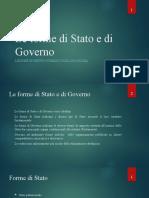 Le Forme Di Stato e Di Governo