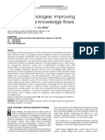 Infosys Technologies improving organizational knowledge flows