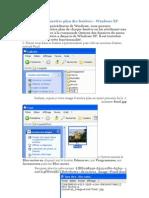 Personnaliser l'arrière plan des fenêtres - Windows XP