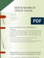 PROSEDUR MEMBUAT SERTIFIKAT TANAH
