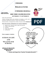 SEPTEMBER 01 TO SEPTEMBER 08 - TEACHER FERNANDA