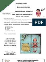 August 18 to August 24 - Maria Eduarda Souza