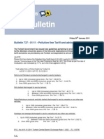 Bulletin 737 - 2011 - 01 - Pollution fine Tariff and advice - Turkey