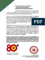 Juventudes Comunistas de Antequera conmemora el 80º aniversario de la proclamación de la II República Española