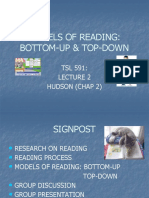 LECTURE 2 MODELS OF READING 1