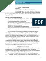 technical portfolio model