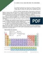 Aula 2 - Elemento químico, organizaçãodos elementos na tabela periódica e reações químicas