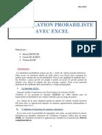 Simulation probabiliste avec Excel