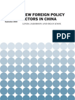 New Foreign Policy Actors in China