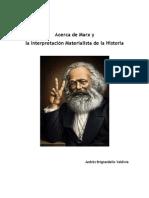 Acerca de Marx y la Interpretación Materialista de la Historia