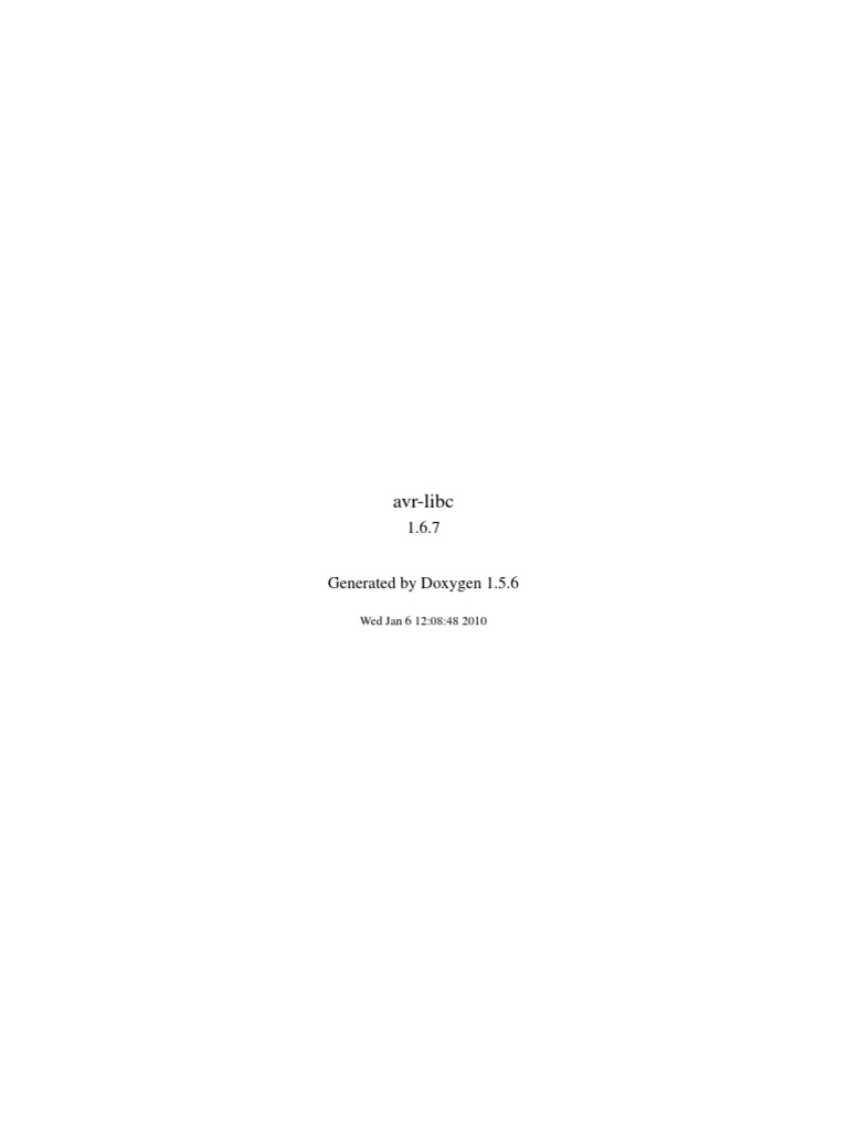 Avr libc user manual gnu compiler ccuart Image collections