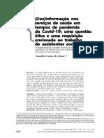 17. Desinformação nos serviços de saúde em tempos de pandemia
