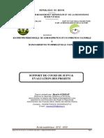 Suivie Evaluation de Projet