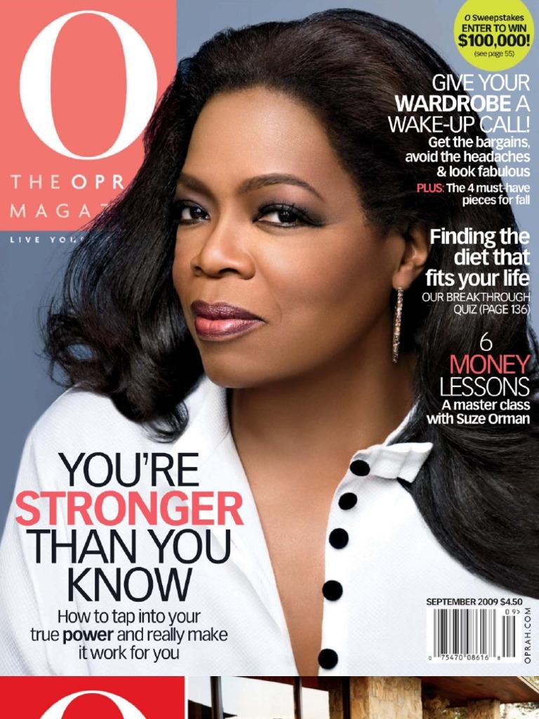 Oprah Magazine - September 2009 (Malestrom)