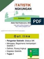 STATISTIK  LINGK- slide I - Pengantar Statistik