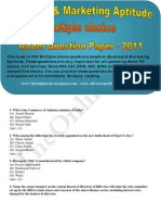 Business & Marketing Aptitude Multiple choice Questions 2011 - TheOnlineGK