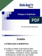 Cheque e Duplicata