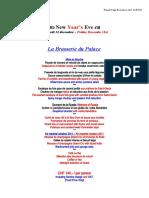 New Year Eve La Brasserie du Palace 2010