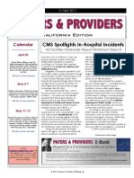 Payers & Providers California Edition – Issue of April 14, 2011