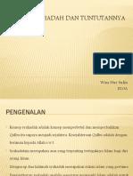 Konsep Syahadah Dan Tuntutannya_Wan Nur Sufia_E10A