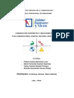 PLAN DE COMUNICACIONES - HOSPITAL NACIONAL HIPÓLITO UNANUE