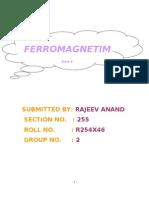FEROMAGNETISM