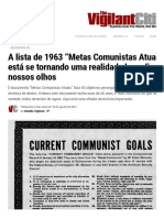 A Lista de 1963 _Metas Comunistas Atuais_ Está Se Tornando Uma Realidade Bem Diante de Nossos Olhos _ O Cidadão Vigilante