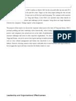 Taiga  and Nissan  - Leadership and organizational effectivness