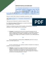 DESCRIPCIÓN PANTALLA DE WORD 2007