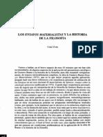 Los ensayos materialistas y la Hª de la Fª