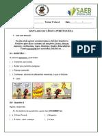 Simulado Folclore 3º Ano Corrigido Para Aplicar (1)