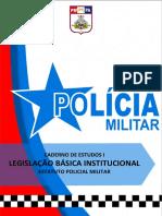CADERNO DE ESTUDOS I LEGISLAÇÃO BÁSICA INSTITUCIONAL ESTATUTO DA POLÍCIA MILITAR DO PARÁ CAS II 2021